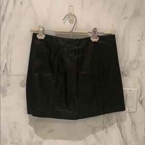 Black express faux leather skirt